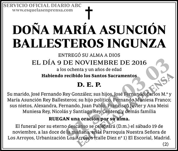 María Asunción Ballesteros Ingunza